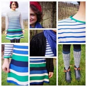 Geringeltes Kleid Coco by TweedandGreet