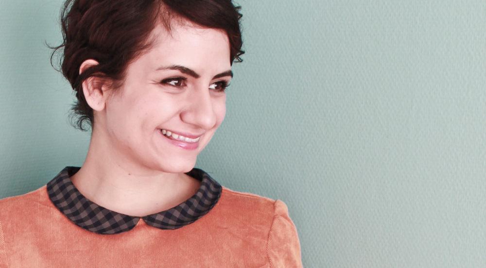 Dress Megan with peter pan collar made by tweedandgreet