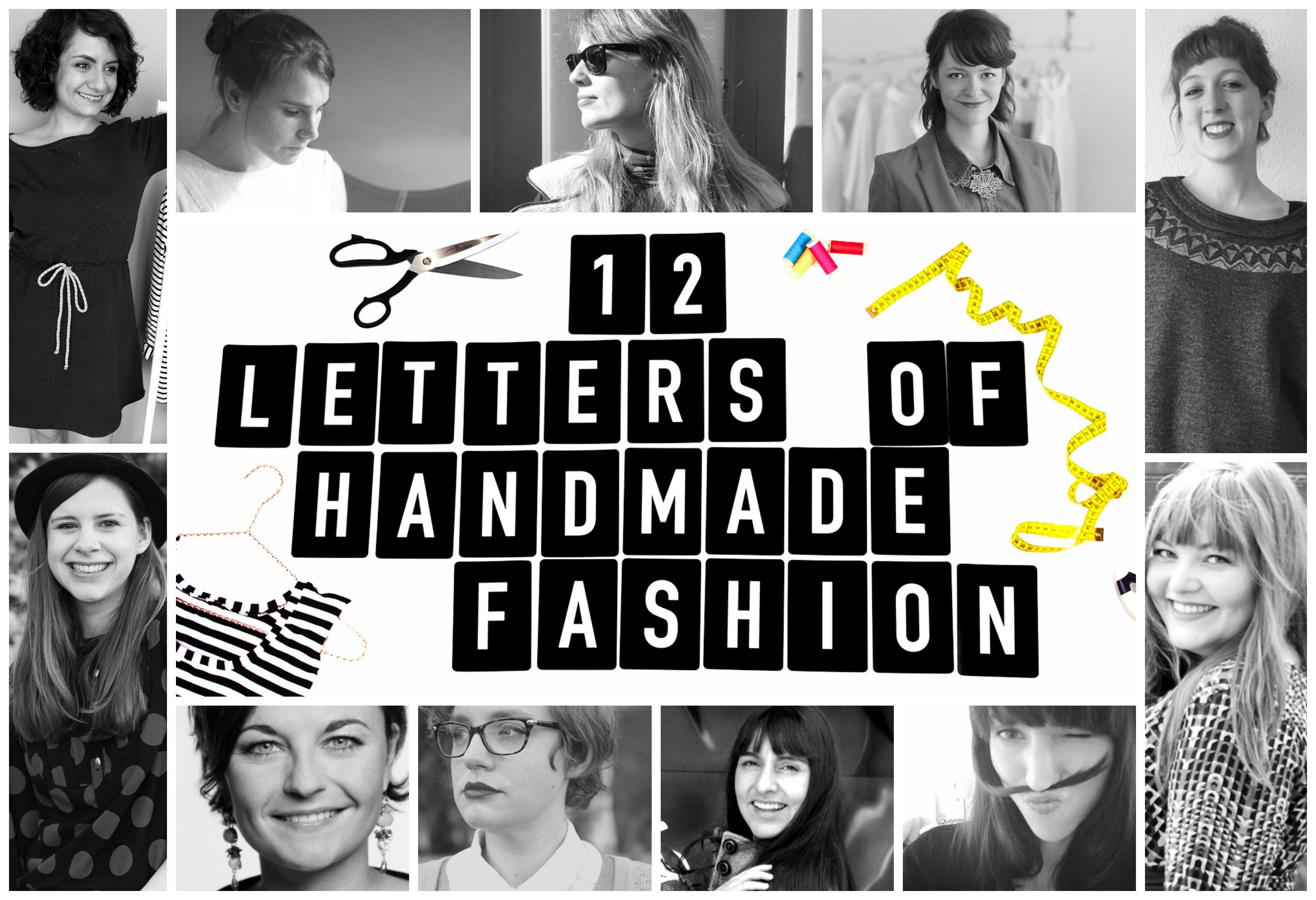 12 Letters of Handmade Fashion - Überblick Hosts und Buchstaben