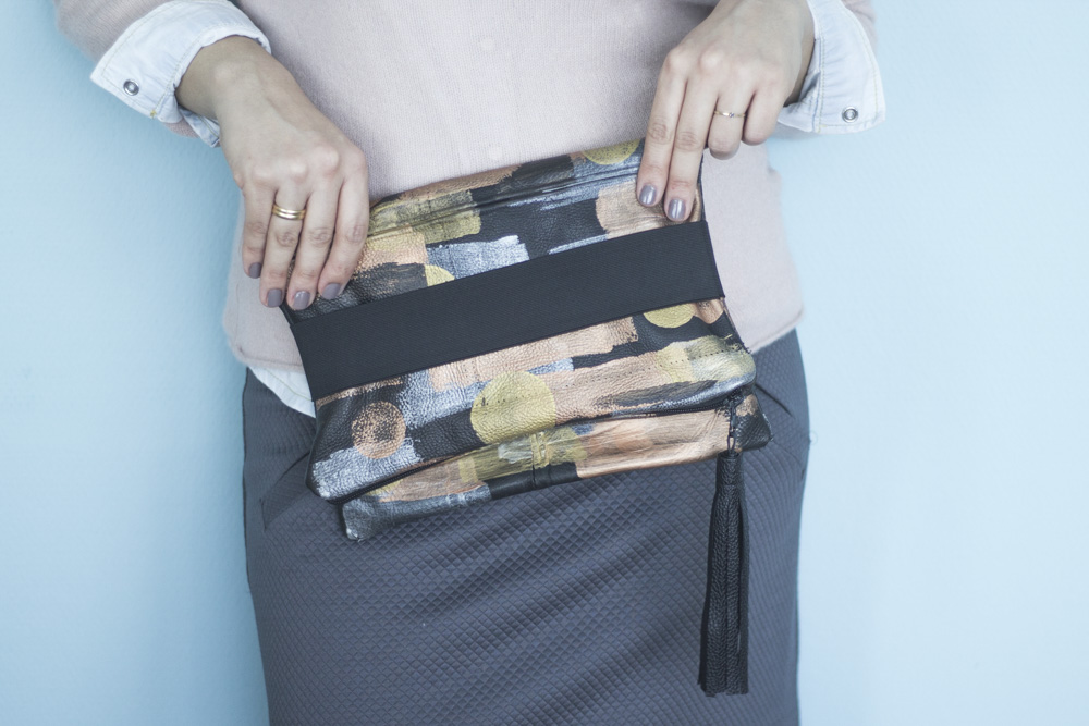 Fold-Over Clutch Refashion by Tweed and Greet