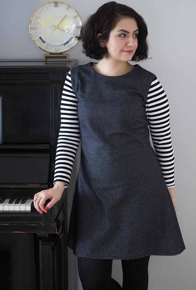 Francoise Dress Tweed & Greet