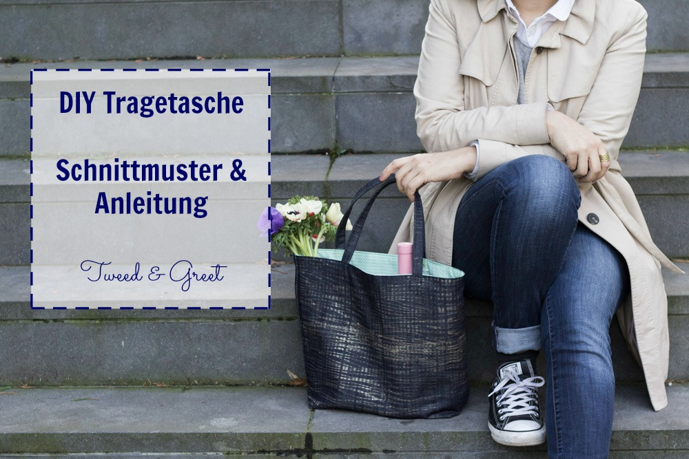 DIY Tragetasche nähen - Schnittmuster und Anleitung
