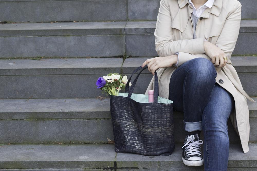 Tragetasche - bedruckter Jeansstoff - Anleitung zum Bedrucken - Tweed & Greet