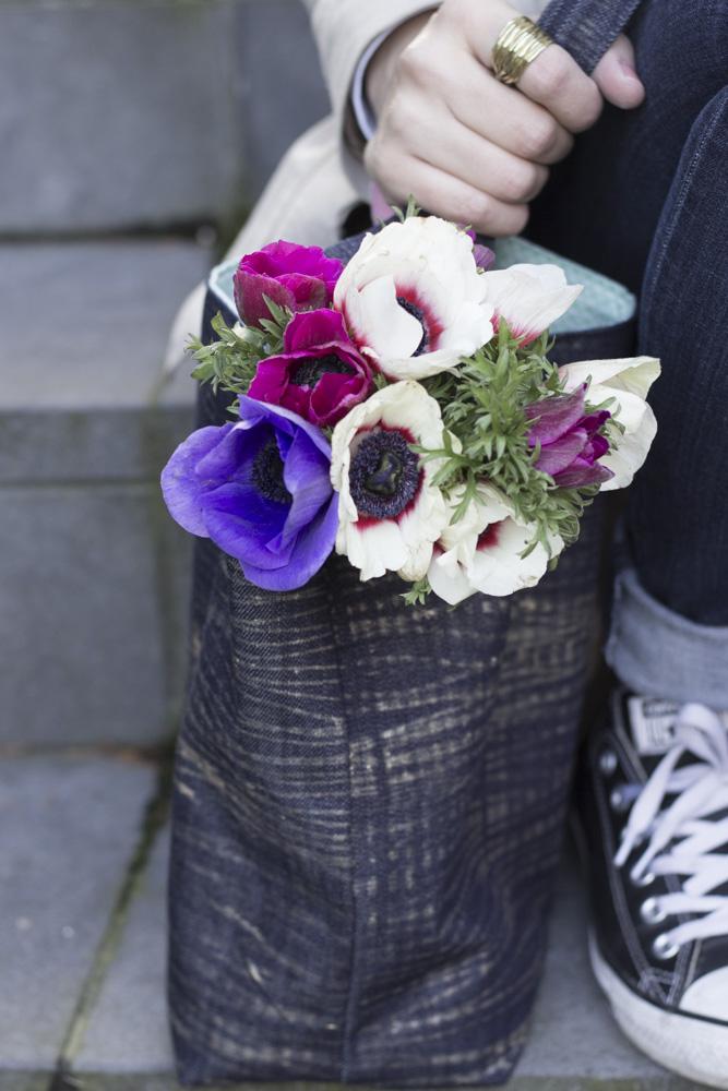 Shopper - Jeansstoff bedrucken - Tweed & Greet