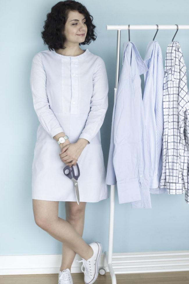 A-Linienkleid aus alten Hemden - Refashion by Tweed & Great