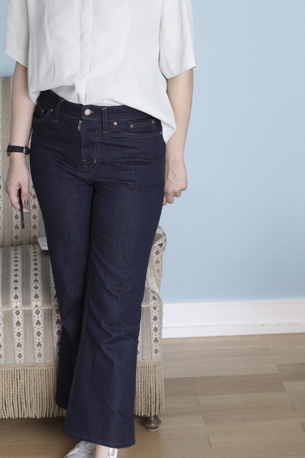 Cropped Birkin Flares by Tweed & Greet