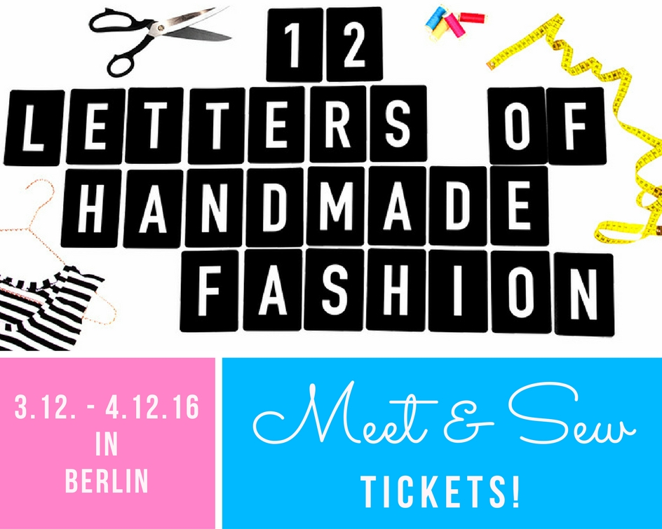 12 Letters of Handmade Fashion - Meet & Sew
