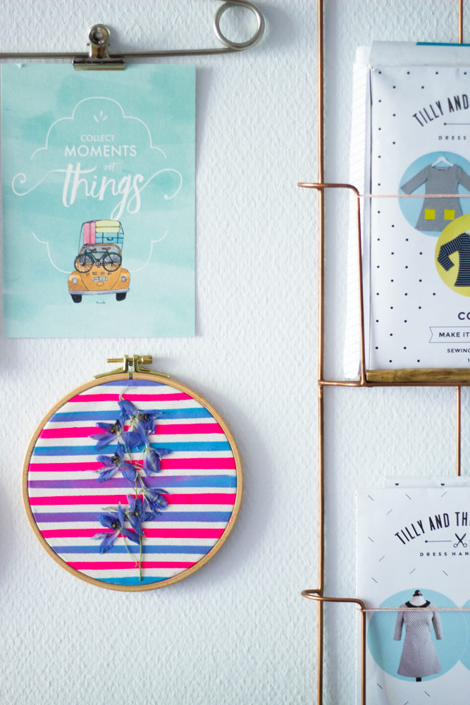 Bunter Wandschmuck mit getrockneten Blumen selbstgemacht | Tweed ...