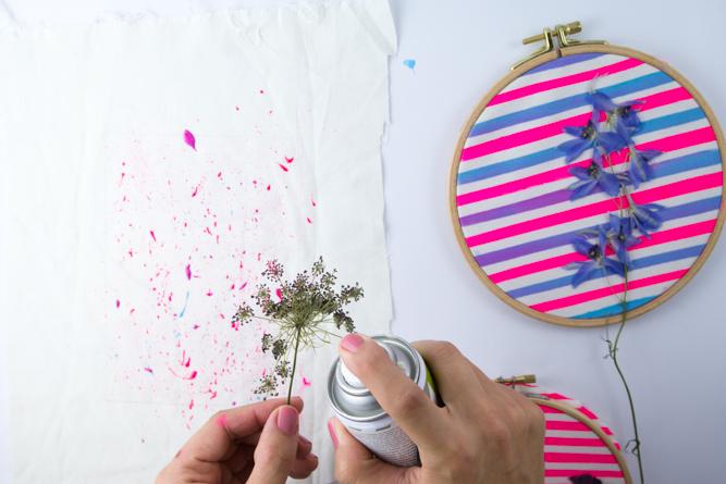 Wandschmuck mit getrockneten Blumen - Tweed & Greet