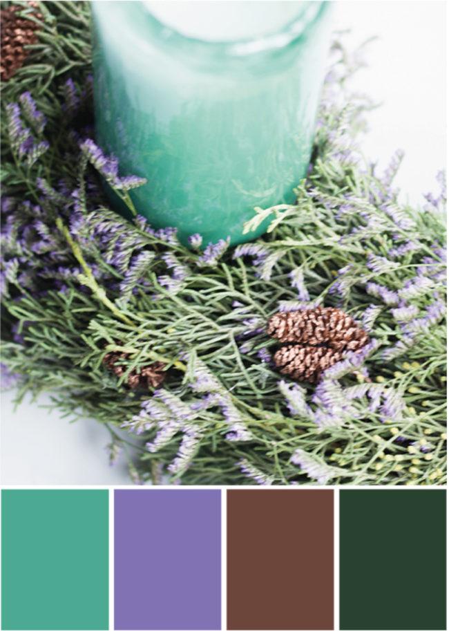 Grünpalette lila Rot - Tweed & Greet