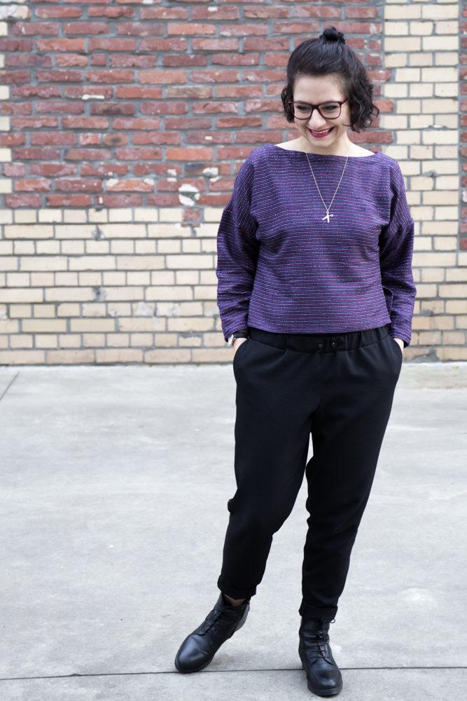 Kimono Pullover aus Wolle - Tweed & Greet
