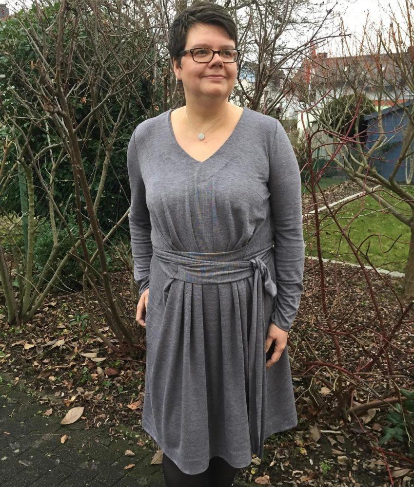 Langarm Weihnachtskleid La Maison Victor von Sabine von Sternkind Sews