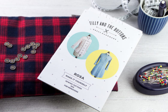 Bluse Rosa - Tilly & the Buttons - Tweed & Greet