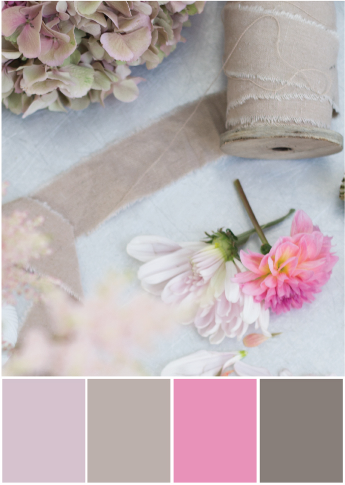 Farbpalette Beige rosa - Tweed & Greet