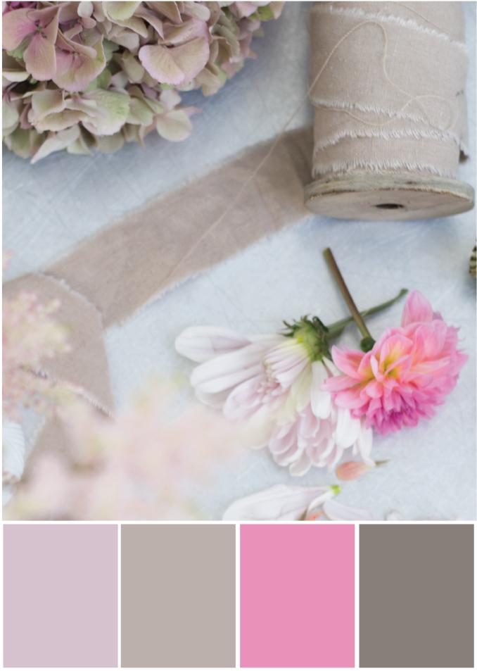 Farbpalette Beige rosa - Tweed & Greet