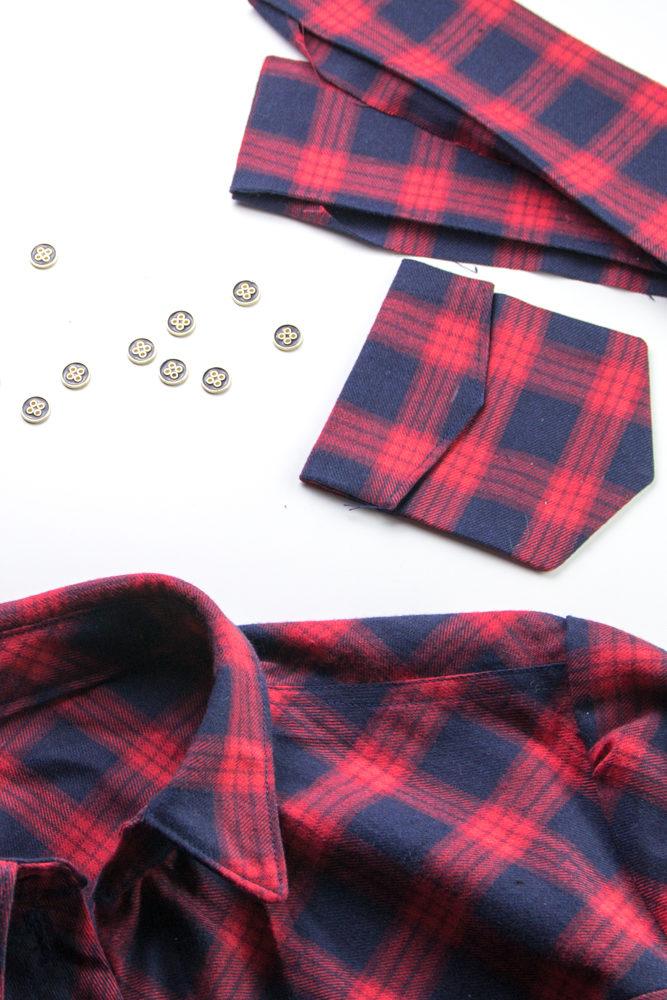 Bluse Knopfleisten nähen - Tweed & Greet