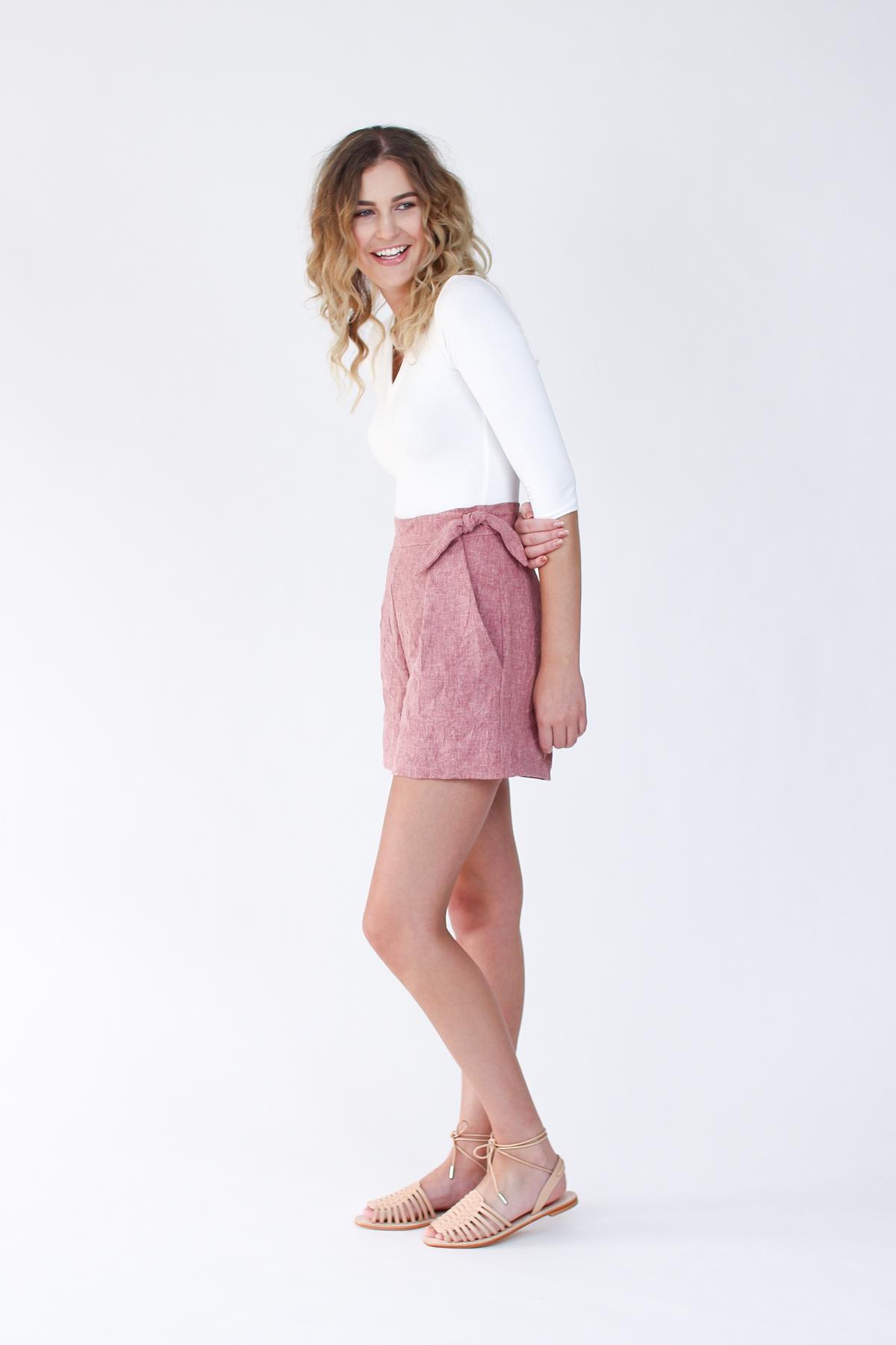 Rowan Bodysuit and Flint Shorts by Megan Nielsen Patterns