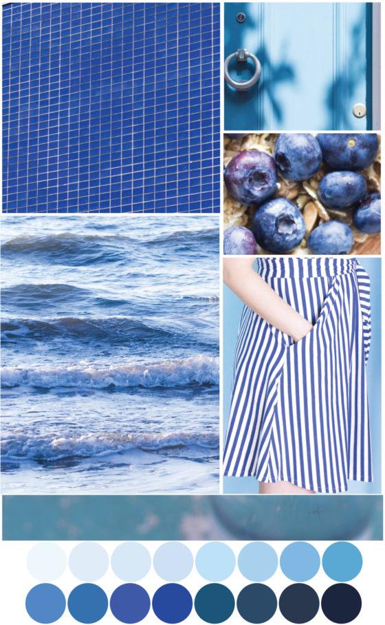 Farbpalette Blautöne - Tweed & Greet