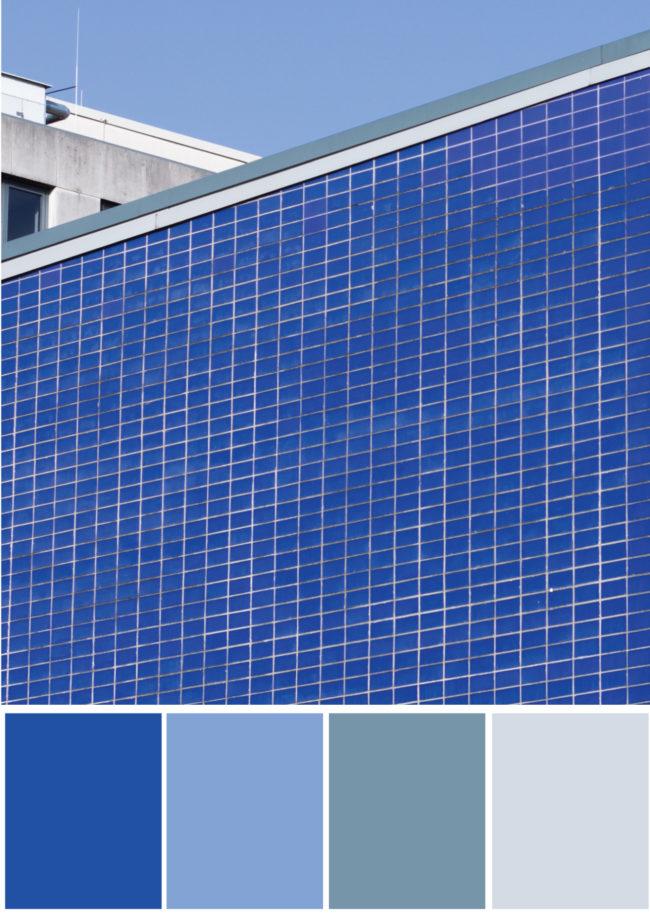 Farbpalette Farbkombination- Blau Grau - Tweed & Greet