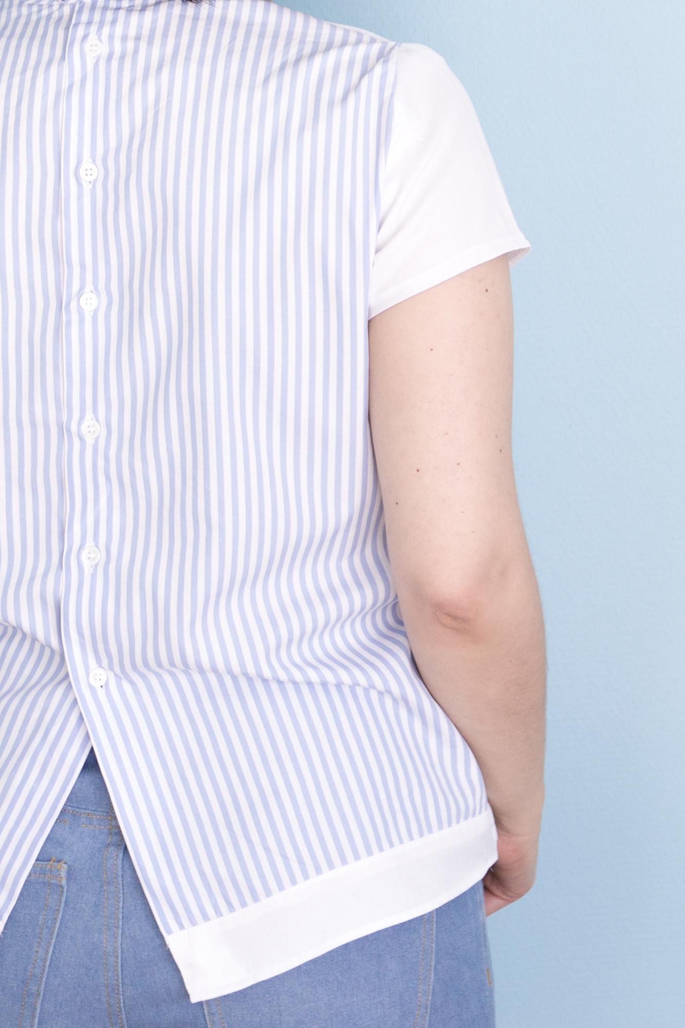Schnittmuster Hoya Blouse von Deer & Doe aus Herrenhemd Refashion - Tweed & Greet