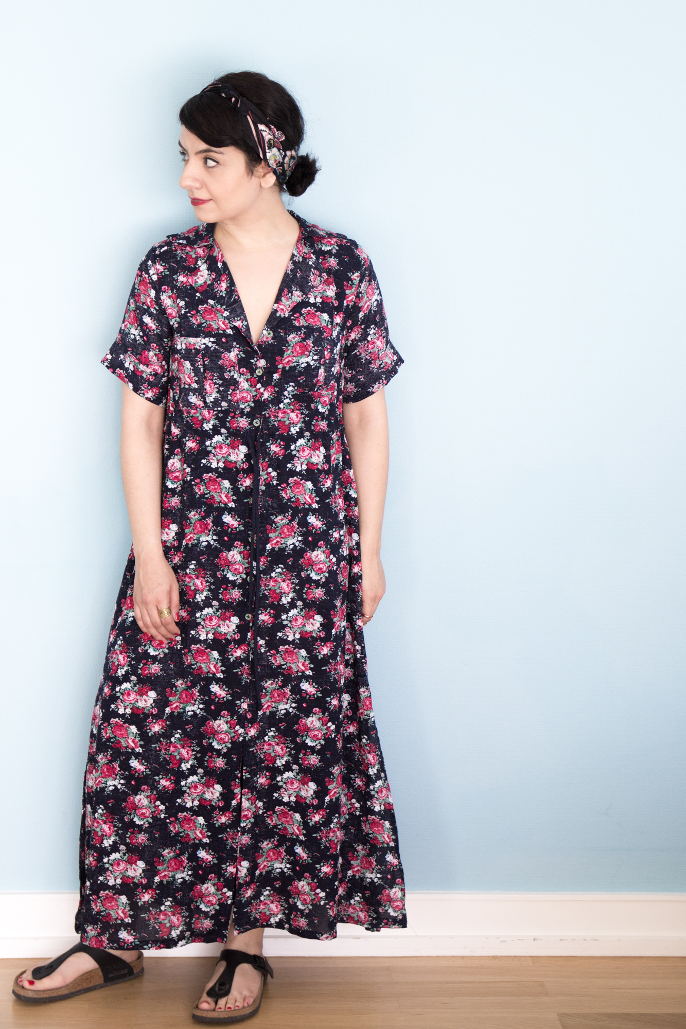 Reeta floral Maxidress - Schnittmuster Named - Tweed & Greet