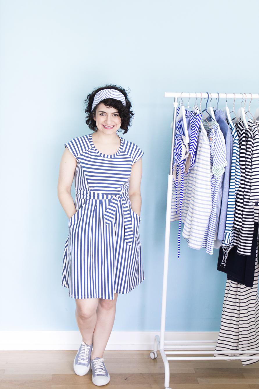 Zadie Streifenkleid - Schnittmuster von Tilly & the Buttons - Tweed & Greet
