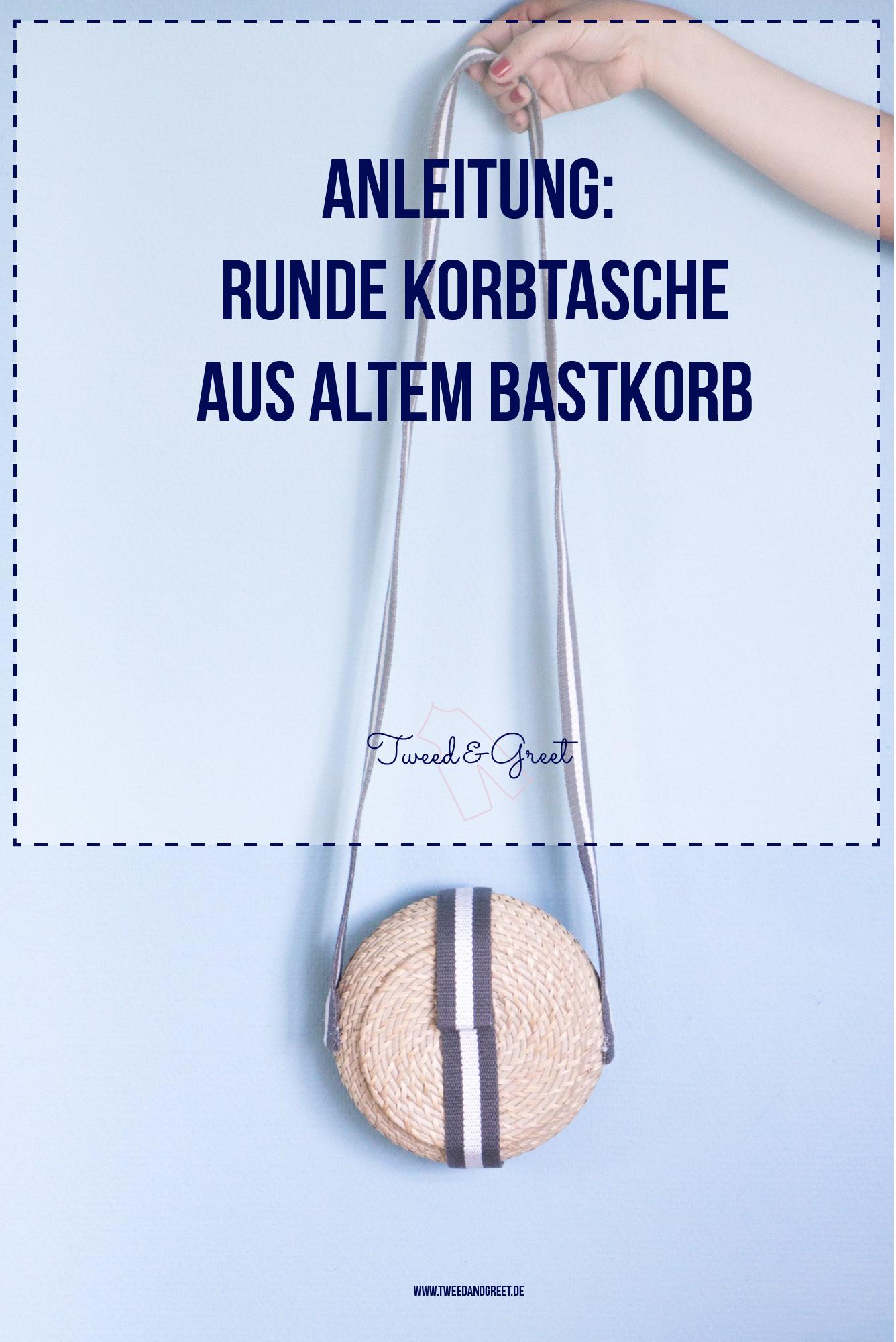 Korbtasche mit Taschengurt selbermachen - Tweed & Greet-14