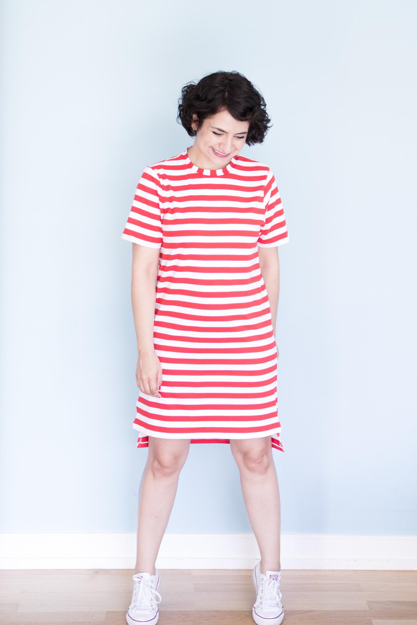 Rot-Weißes Ringelkleid nach dem Schnittmuster Jane vom Seamwork Magazine - Tweed & Greet
