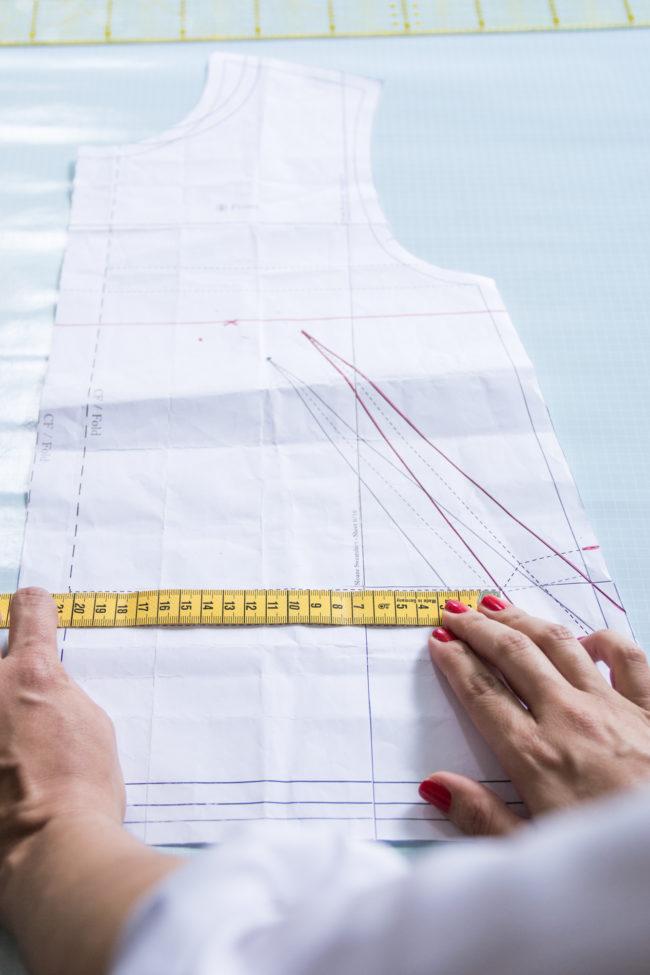 Maße am Schnittmuster kontrollieren - Tweed & Greet