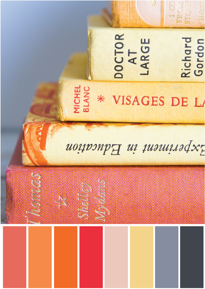 Orange Farbpalette Bücher - Tweed & Greet
