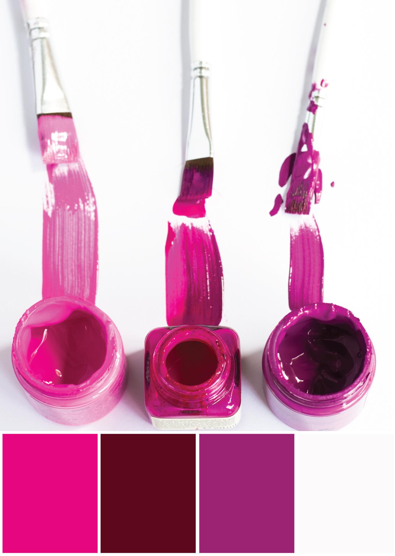 Farbkombinationen Lila Pink - Farbpalette by Tweed & Greet