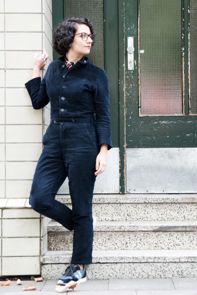 Refashion Cord Jumpsuit aus Herrenanzug - Tweed & Greet