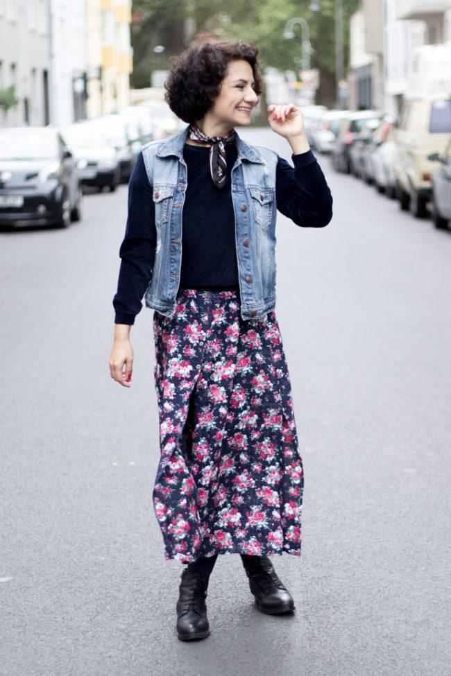 Sommerkleid herbstlich stylen - Tweed & Greet