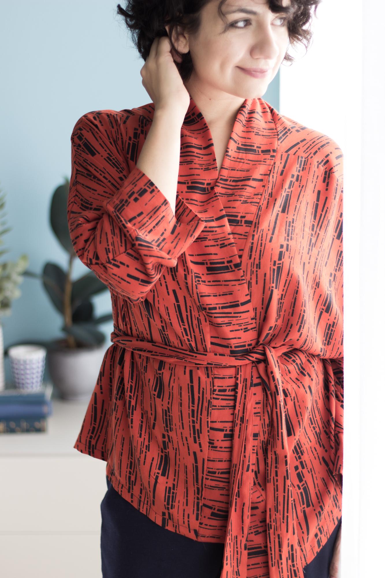 Kimono nähen - Schnittmuster für Kimono und Schnittmuster für ...