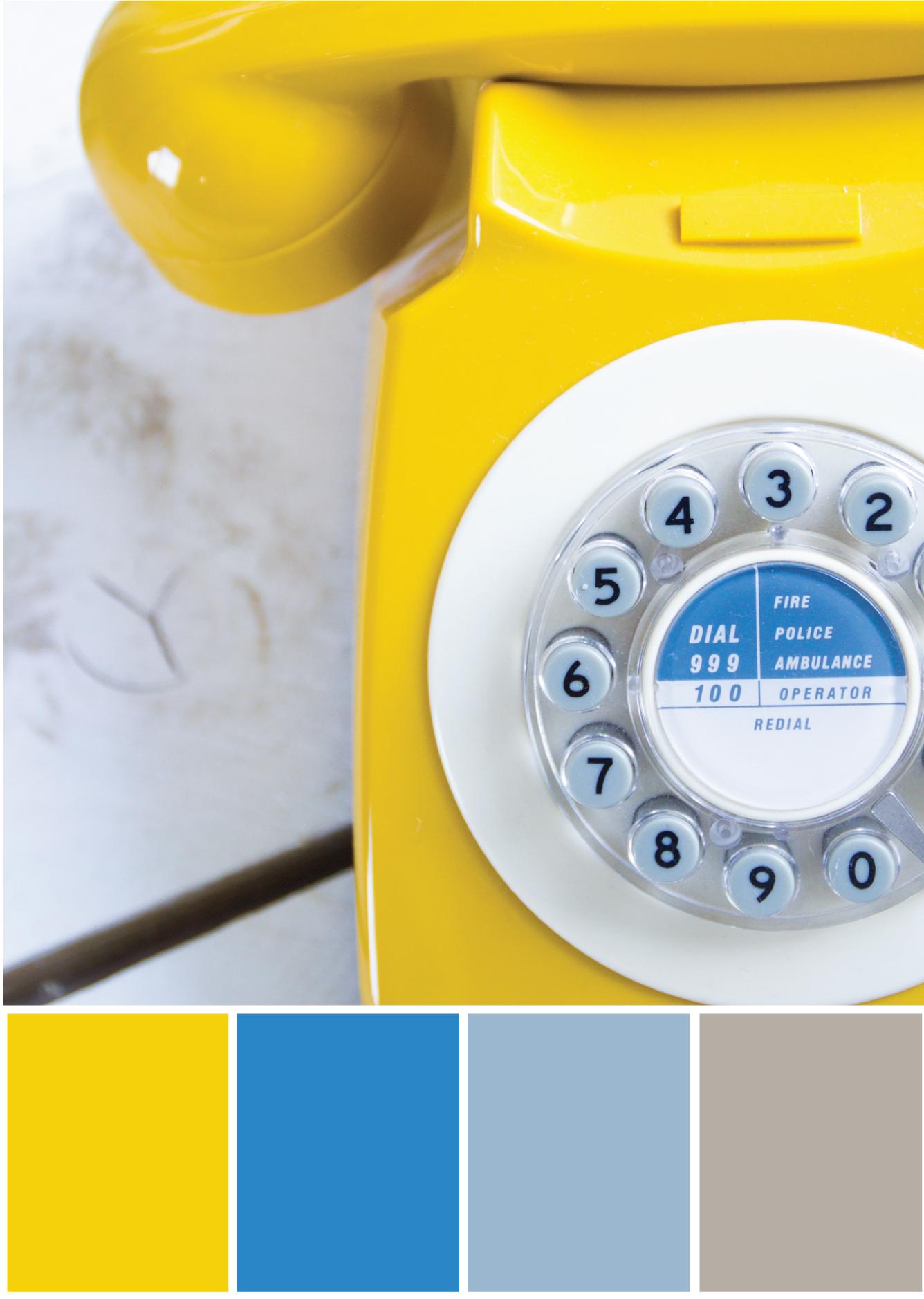 Farbpalette Grau -blau gelba -Tweed & Greet