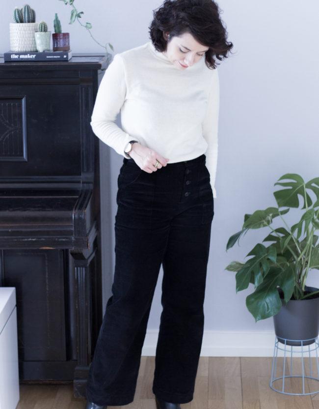 Lander Pants - Hose aus Cord nähen - Schnittmuster True Bias - Tweed & Greet