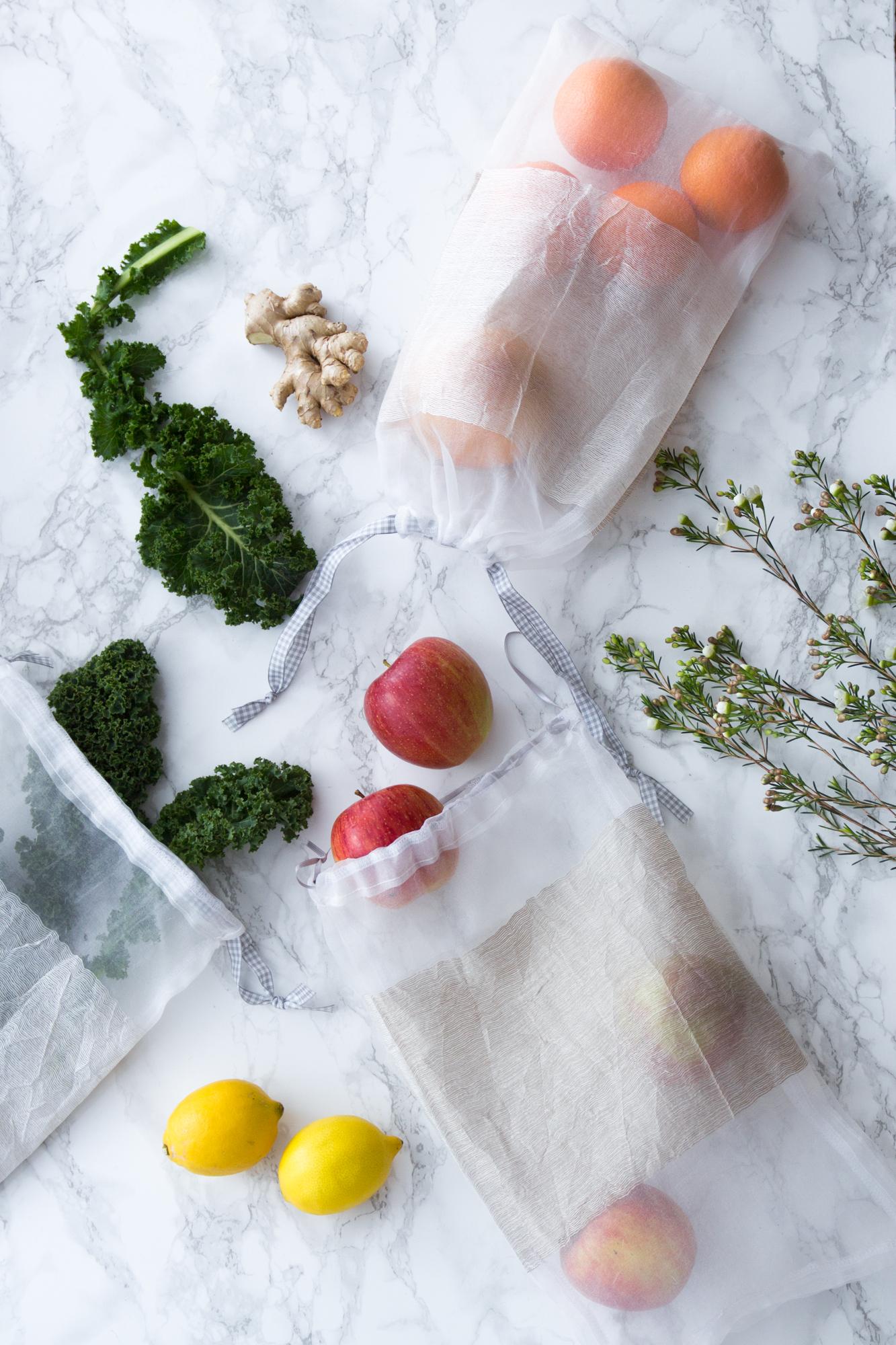 DIY Anleitung Gemüsenetz selbstgenäht - für mehr Nachhaltigkeit im Alltag - Tweed & Greet