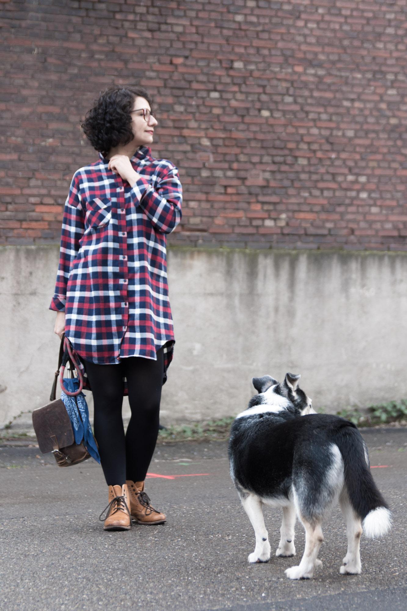 Schnittmuster für Blusenkleid nähen - DIY Blusenkleid aus Flanell - Closet Case Patterns - Kalle Shirtdress - Tweed & Greet
