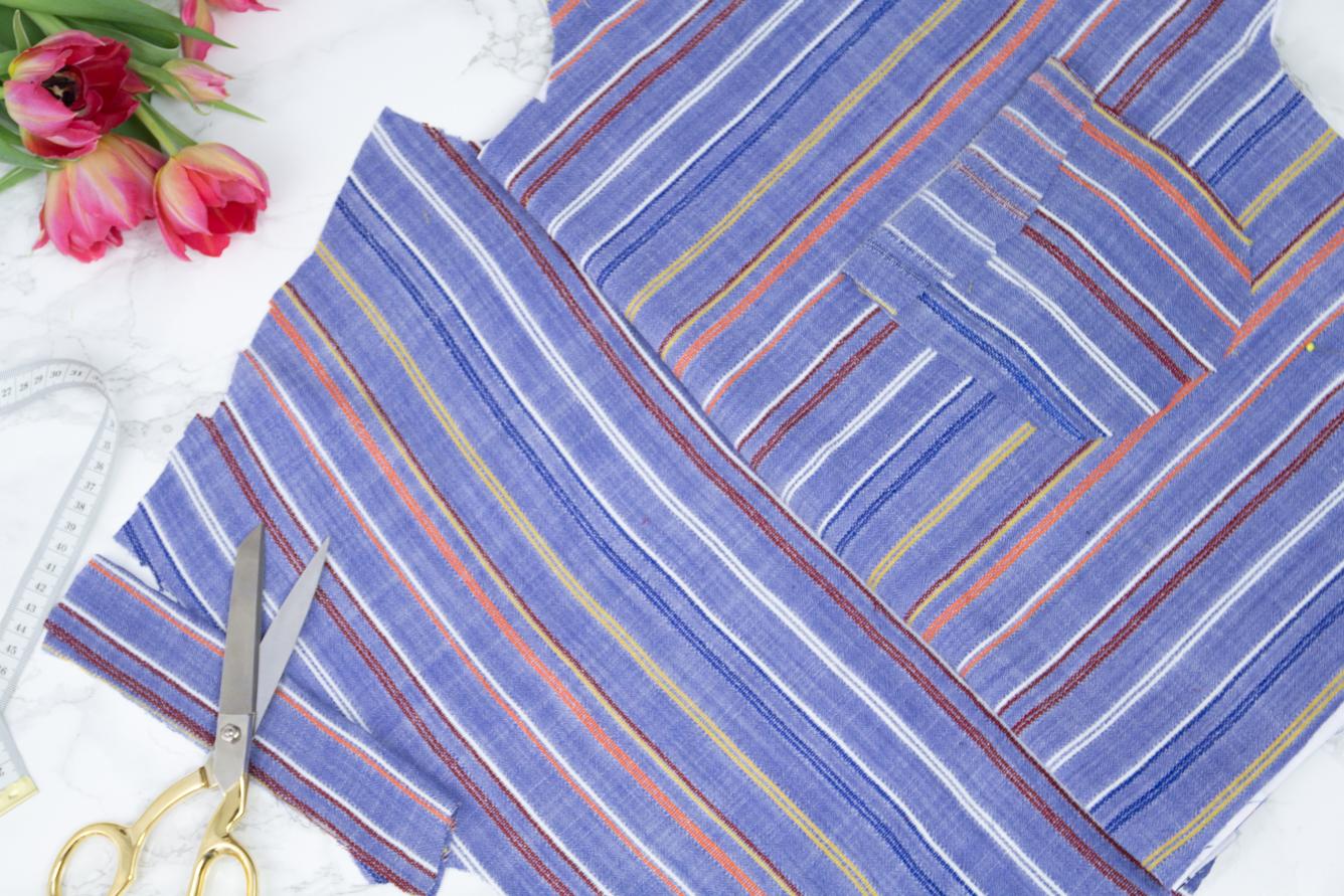 Nähen für den Frühling - Nähkorb mit Stoffen - Tweed & Greet