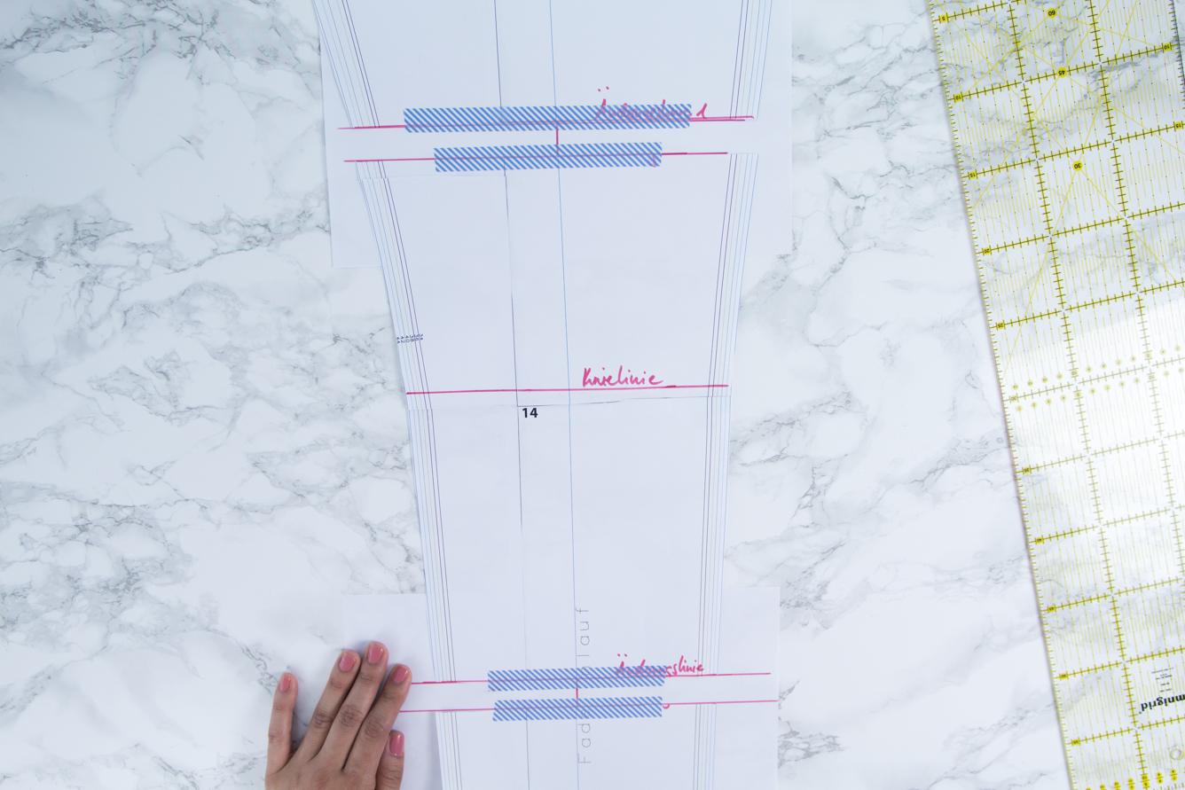 Schnittmuster einer Hose verlängern und verkürzen