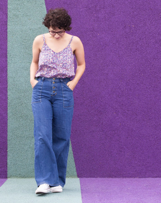 Schnittmuster Ogden Cami selber nähen - True Bias - Tweed & Greet
