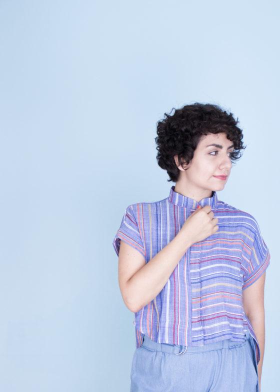 Kalle Cropped Shirt Schnittmuster kurze Bluse nähen