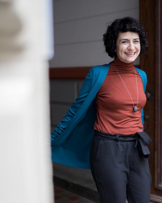 Selbstgenähtes Outfit - Blackwood Cardigan nähen und Modular Rollkragenpullover Schnittmuster