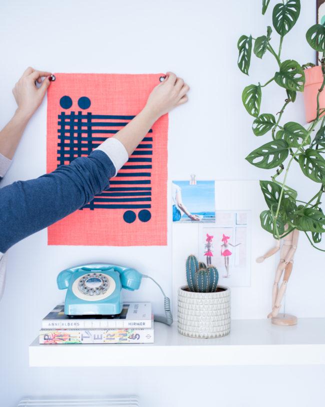 Textiles Wandbild Verflochten Bauhaus Stil - Tweed & Greet