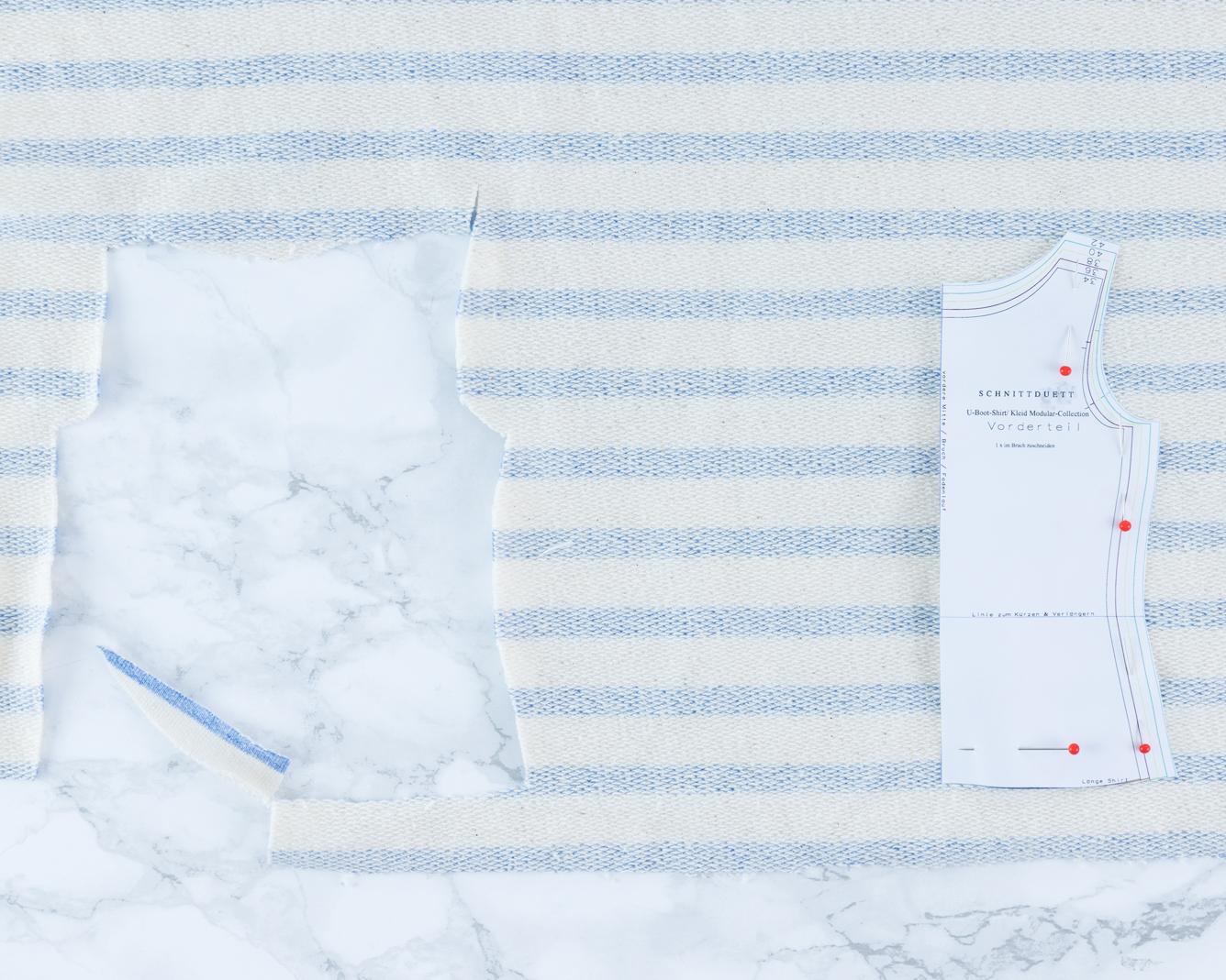 Streifen richtig zuschneiden und nähen - Tweed & Greet
