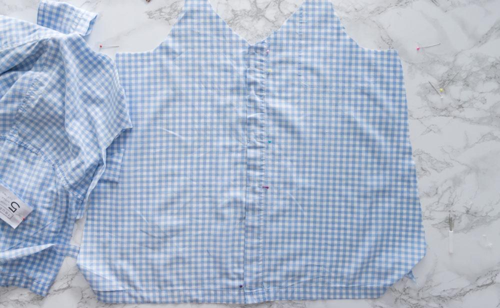 Refashion Sommeroberteil aus Pyjamahemd
