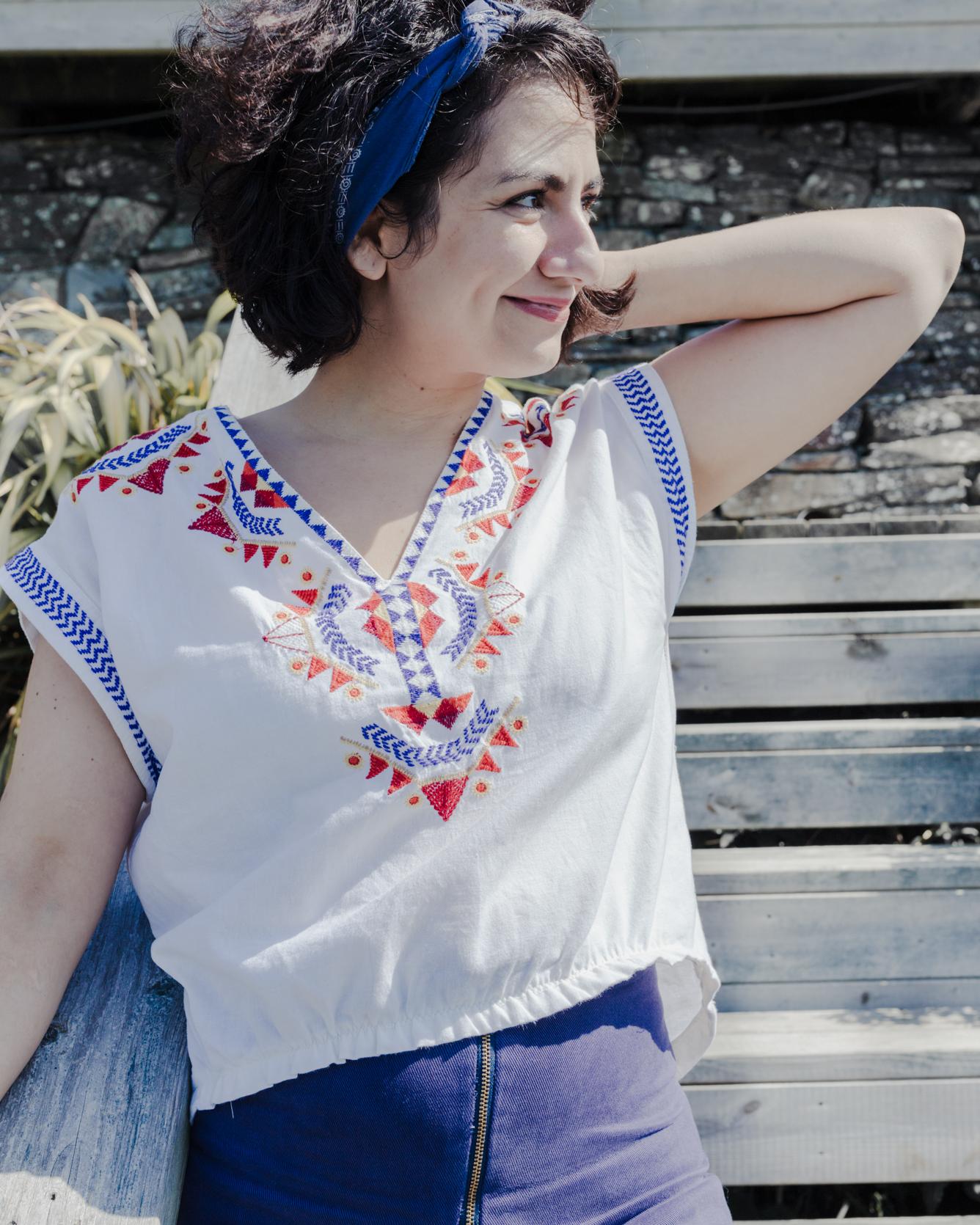 Refashion Sommeroberteil aus altem Sommerkleid