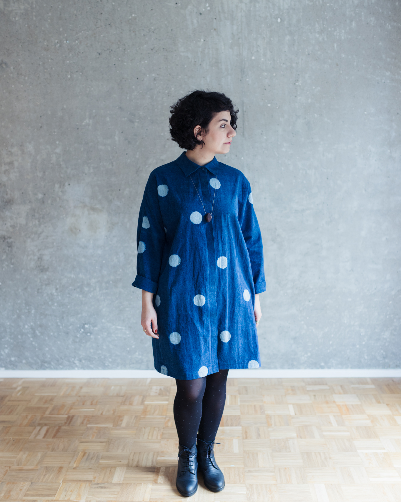 Blusenkleid nähen: Schnittmuster Oversize Blusenkleid Cocoon - Schnittduett