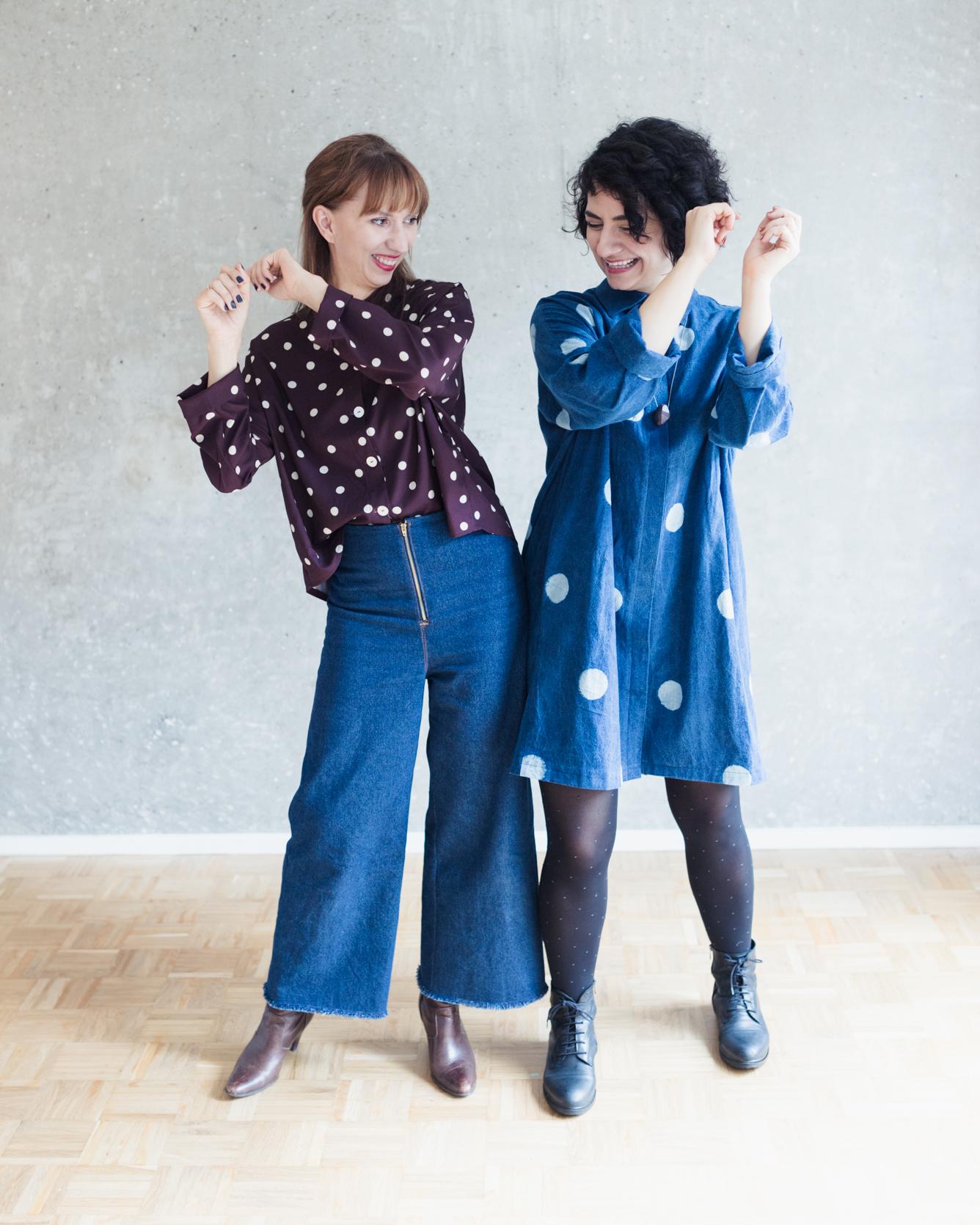 Blusenkleid nähen: Schnittmuster Oversize Bluse und Blusenkleid Cocoon - Schnittduett