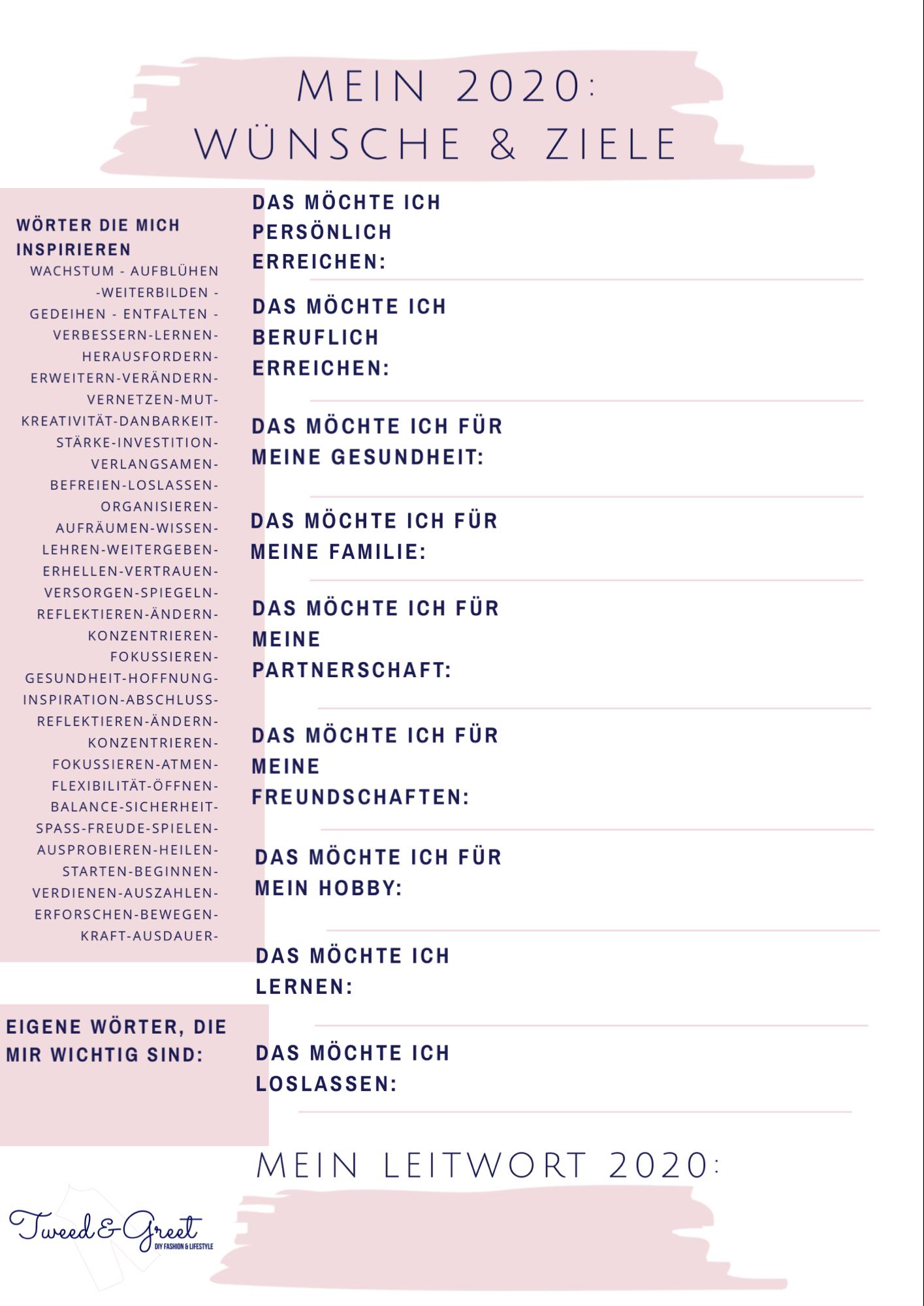 Kostenloser Guide: Leitsatz wählen für Ziele und Wünsche 2020